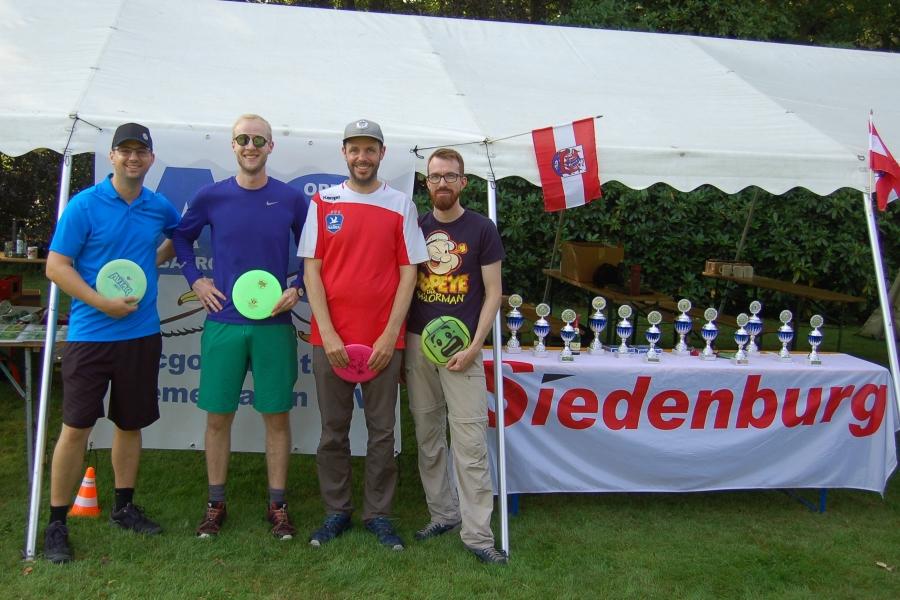 Alex, Johannes, Jörg und Marcel