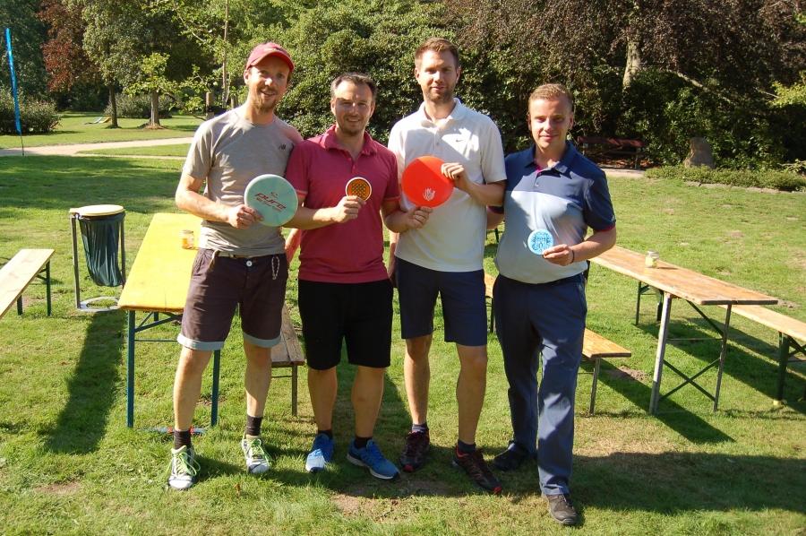 Christoph, Dennis, Malte und Karol