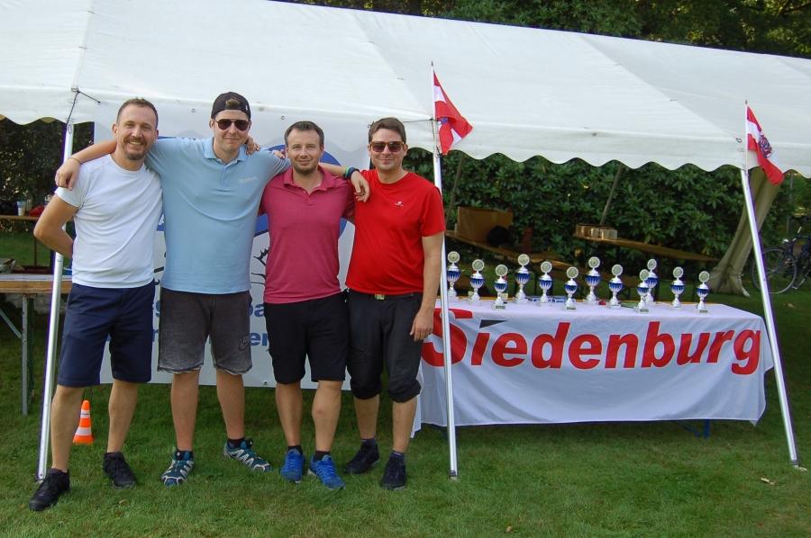 Gunnar, Fabian, Dennis und Benjamin